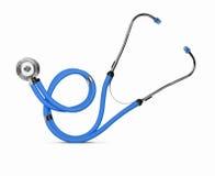 белизна стетоскопа аппаратуры доктора предпосылки Стоковые Изображения RF