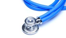 белизна стетоскопа аппаратуры доктора предпосылки Стоковое Изображение RF