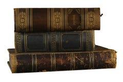 белизна стога предпосылки изолированная книгами стоковые изображения rf