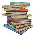 белизна стога предпосылки изолированная книгами стоковое изображение rf