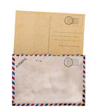 белизна столба пустой карточки предпосылки старая Стоковые Фотографии RF