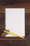 белизна страницы тетради предпосылки изолированная пробелом Стоковые Фотографии RF
