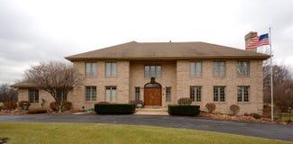 белизна структуры дома кирпича предпосылки Стоковое Изображение RF