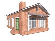 белизна структуры дома кирпича предпосылки Стоковые Фотографии RF