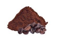белизна студии съемки фасолей предпосылки изолированная кофе Стоковое Изображение