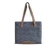 Белизна сумки tote текстуры холста изолированная Стоковая Фотография RF