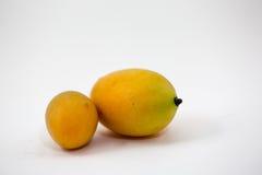 Белизна сливы изолированная манго, плодоовощ имеет кислый вкус Стоковое Фото