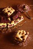 белизна текста образца торта backgound изолированная вишней Стоковое Фото