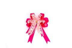 белизна тесемки предпосылки розовая Стоковые Изображения