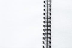 белизна тетради бумажная Стоковое Изображение