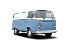 Белизна тележки T2 VW голубая Стоковое Фото