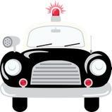 белизна типа полиций cartoonish автомобиля изолированная изображением Стоковое Фото