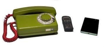 белизна типа steampunk телефона предпосылки Стоковое Изображение RF
