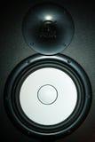 белизна тома диктора звука нот ассоциации черная Стоковое Изображение RF