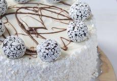 белизна торта предпосылки изолированная серым цветом Стоковые Изображения