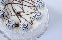 белизна торта предпосылки изолированная серым цветом Стоковые Фото