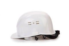 белизна трудного шлема Стоковое Изображение