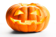 белизна тыквы предпосылки изолированная halloween Стоковые Изображения