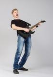 белизна утеса музыканта человека предпосылки Стоковая Фотография RF