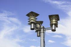 белизна улицы 8 изолированная eps светильников Стоковая Фотография RF