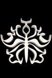 Белизна формы бабочки орнаментальная Стоковое фото RF