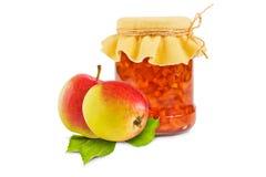 белизна фото варенья предпосылки яблока Стоковое Фото