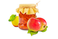 белизна фото варенья предпосылки яблока Стоковое Изображение