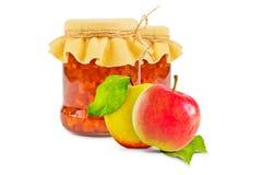 белизна фото варенья предпосылки яблока Стоковые Изображения