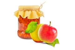 белизна фото варенья предпосылки яблока Стоковые Фото