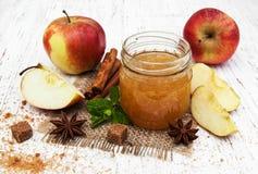 белизна фото варенья предпосылки яблока Стоковое Изображение RF