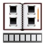 белизна фото иллюстрации конструкции предпосылки альбома Стоковые Фотографии RF