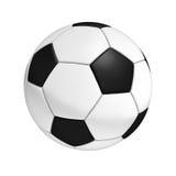 белизна футбола предпосылки изолированная шариком Стоковые Изображения