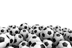 белизна футбола предпосылки изолированная шариком Стоковая Фотография