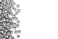 белизна футбола предпосылки изолированная шариком Стоковые Фотографии RF