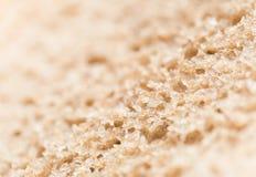 белизна хлеба предпосылки изолированная коричневым цветом Стоковая Фотография