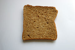 белизна хлеба предпосылки изолированная коричневым цветом Стоковое Изображение RF