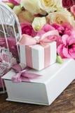 белизна цветков розовая Стоковые Фотографии RF