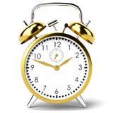 белизна часов предпосылки сигнала тревоги Стоковая Фотография