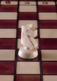 белизна части рыцаря шахмат Стоковые Изображения RF