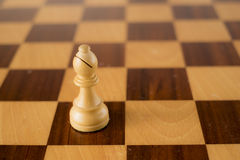белизна части шахмат епископа 3d Стоковая Фотография