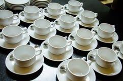 белизна чашки пустая Стоковое Изображение RF