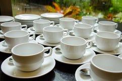 белизна чашки пустая Стоковое Фото