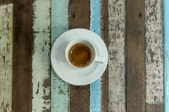 Белизна чашки эспрессо кофе Стоковая Фотография RF