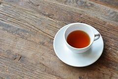 белизна чая предпосылки изолированная чашкой Стоковое Фото