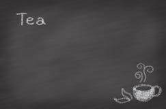 белизна чая предпосылки изолированная чашкой Стоковые Фото