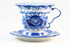 белизна чая предпосылки изолированная чашкой Стоковая Фотография RF