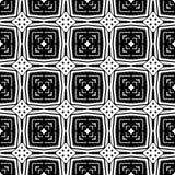 белизна черной картины безшовная Стоковое Изображение