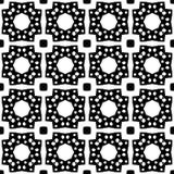 белизна черной картины безшовная Стоковая Фотография RF