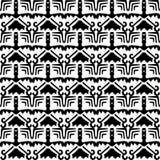 белизна черной картины безшовная Стоковые Фотографии RF