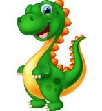 белизна шаржа изолированная динозавром Стоковое Изображение RF